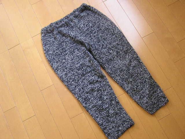 手編みのレギンス