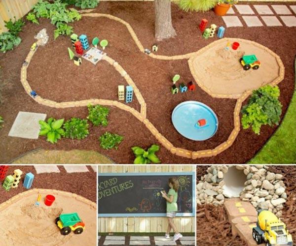 庭子供の遊び場所