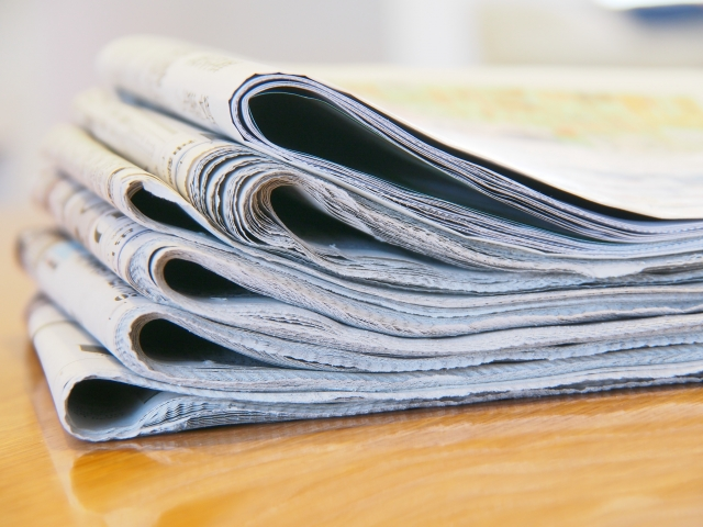 新聞のおくやみ欄